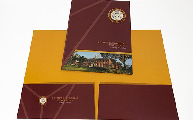 Bethune Cookman Pocket Folder